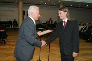 Kirils Solovjovs, K.Morberga stipendijas ieguvējs, LU FMF students 2006. gadā. Foto: Toms Grīnbergs, LU Preses centrs
