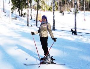Ritas Alkšbirzes aizraušanās ir slēpošana. Foto no privātā arhīva